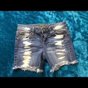Bleach Splattered Arizona Denim Shorts